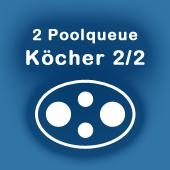 Köcher für 2 Pool-Queues 2/2