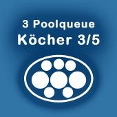 Köcher für 3 Pool-Queues 3/5