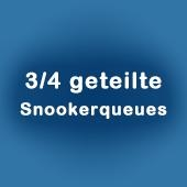Snooker Queues 3/4 geteilt