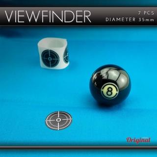 Spots selbstklebend für Poolbillard VIEWFINDER Set mit 7 Stück