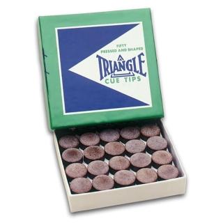 Triangle Klebleder, 13,5 mm, (5 Stück), Queue-Tip, Pomeranze, Poolleder