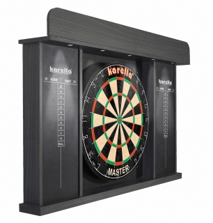 Dartboaord-Cabinet ARENA mit LED - Beleuchtung, ohne Dartboard