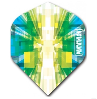 Pentathlon Vizion Star Burst Standard Dart Flights Green