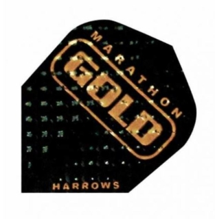 Harrows Marathon Gold Standard Flights Schwarz/Gold